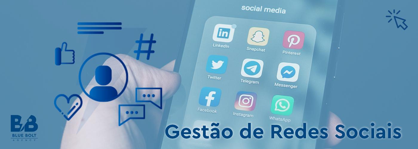 Banner para a gestão de redes sociais